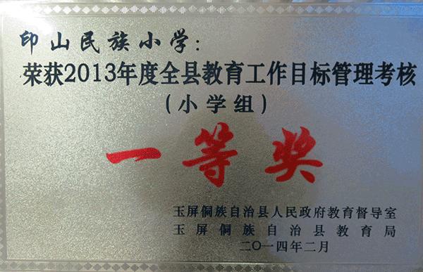 2013年度目标考核一等奖